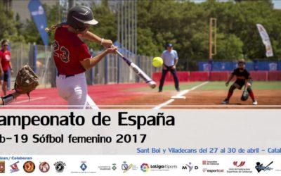 Campeonato de España Sófbol Femenino Sub19. Viladecans y Sant Boi. 27-30 abril