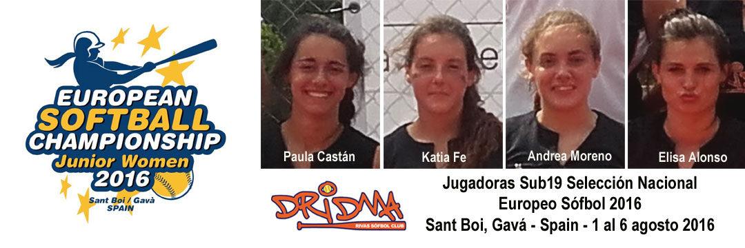 Cuatro jugadoras Dridma Sub19 al Europeo de Sófbol con la Selección Española