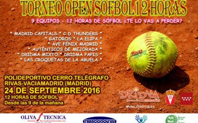 Todo preparado para el III Open 12 horas de sófbol el próximo 24 de septiembre