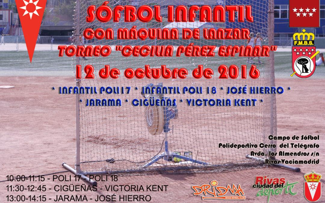 "12 de octubre: Torneo de Sófbol infantil con máquina de lanzar ""Cecilia Pérez Espinar"""