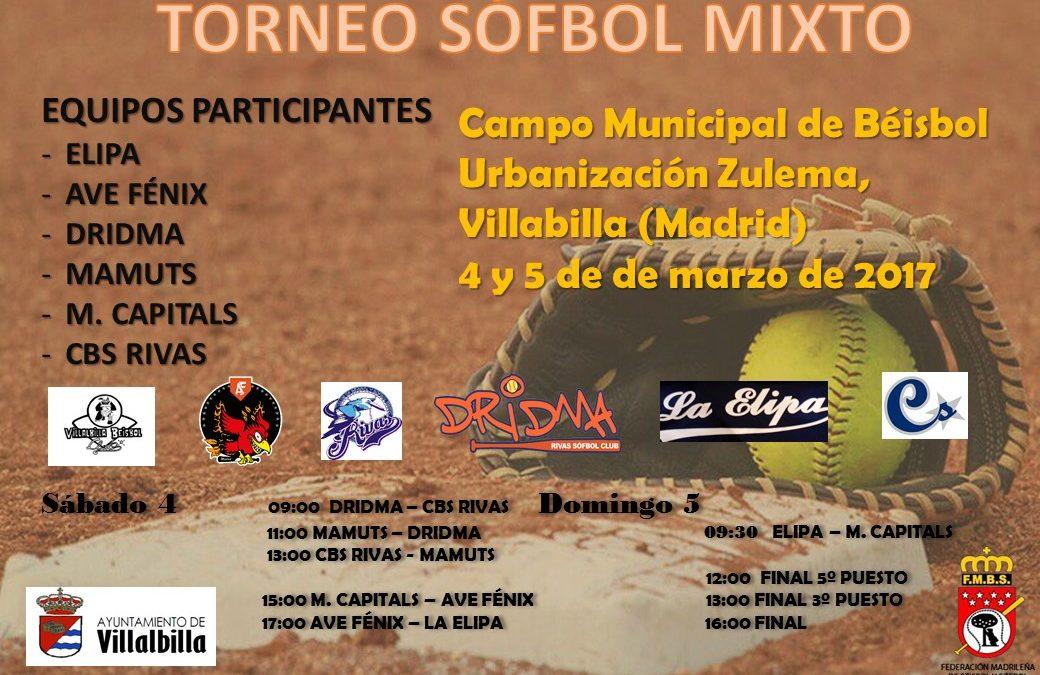 El Dridma Mixto de Adultos ganador de la 1ª Jornada de la competición madrileña de Sófbol Mixto
