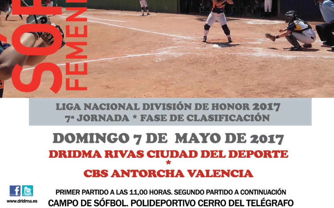 Liga Nacional División de Honor. Domingo 7 de mayo: Dridma – Antorcha