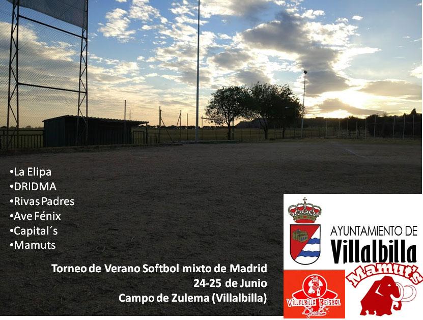 3º Torneo de Madrid de Sófbol Mixto (Adultos) – 24 y 25 de junio en Villalbilla