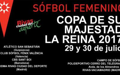 Dridma organiza la Copa de la Reina de Sófbol, los días 29 y 30 de julio 2017, en el Cerro del Telégrafo (Rivas)
