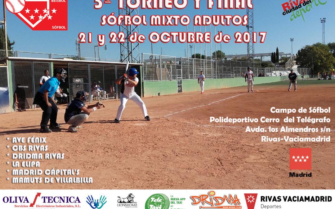 5º Torneo Madrileño de Sófbol Adultos Mixto y Play off final