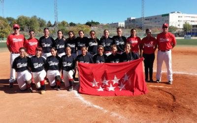 La Selección de Madrid Sub19 de sófbol femenino campeona de España 2017
