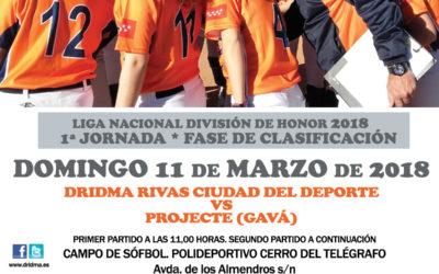 Comienza la Liga Nacional División de Honor de Sófbol Femenino 2018